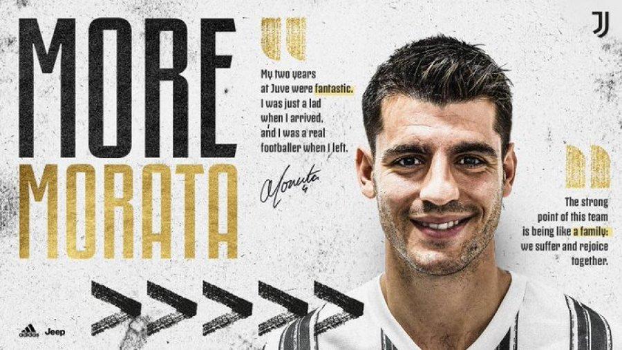 Juventus prezanton Alvaro Moratan  ja detajet e kontrat euml s