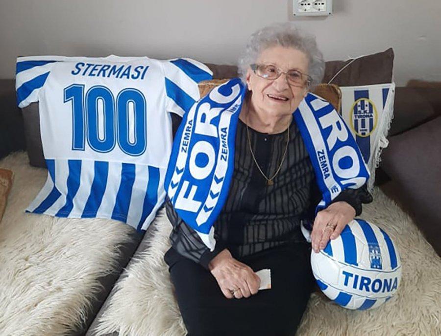 Gruaja e ikonës së futbollit Selman Stërmasi feston 100-vjetorin e lindjes