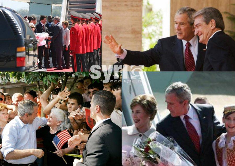 14 vjet më parë Bush në Shqipëri/ Takimet me Berishën  dhe vizita e veçantë në Fushë Krujë